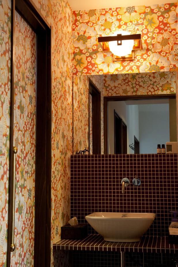 洗面は家族用と来客用で2か所。これは来客用です